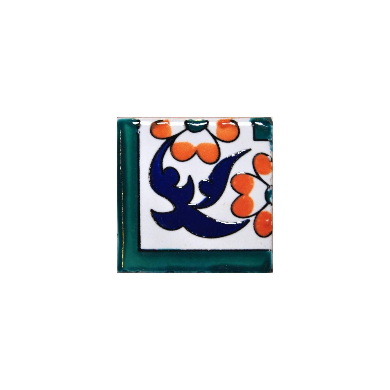 Angolo Cornice Sardegna 5x5 Cm Verde