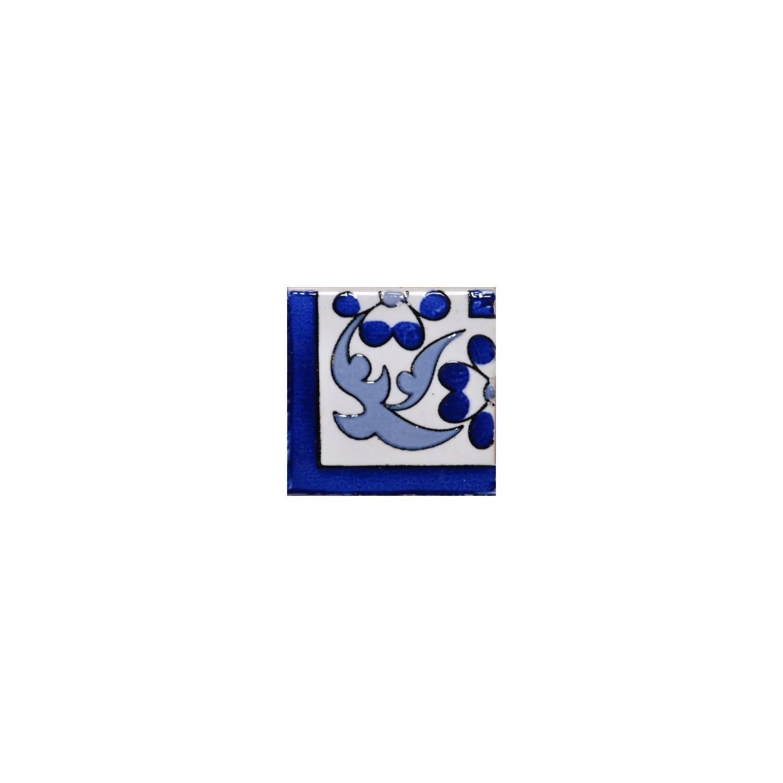 Angolo Cornice Sardegna 5x5 Cm Blu