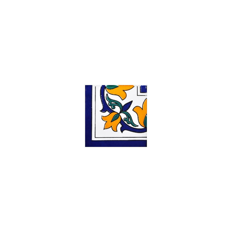 Angolo Bordura Nabeul 7,5x7.5 Cm Fiore Giallo