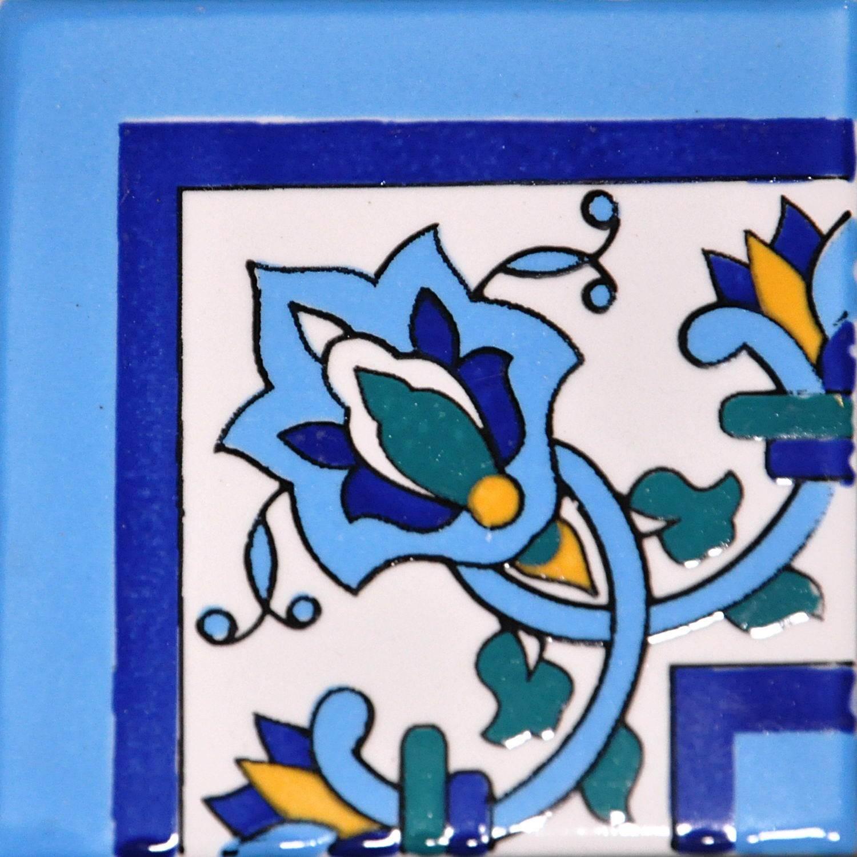 Angolo Cornice El Habib Blu Cielo
