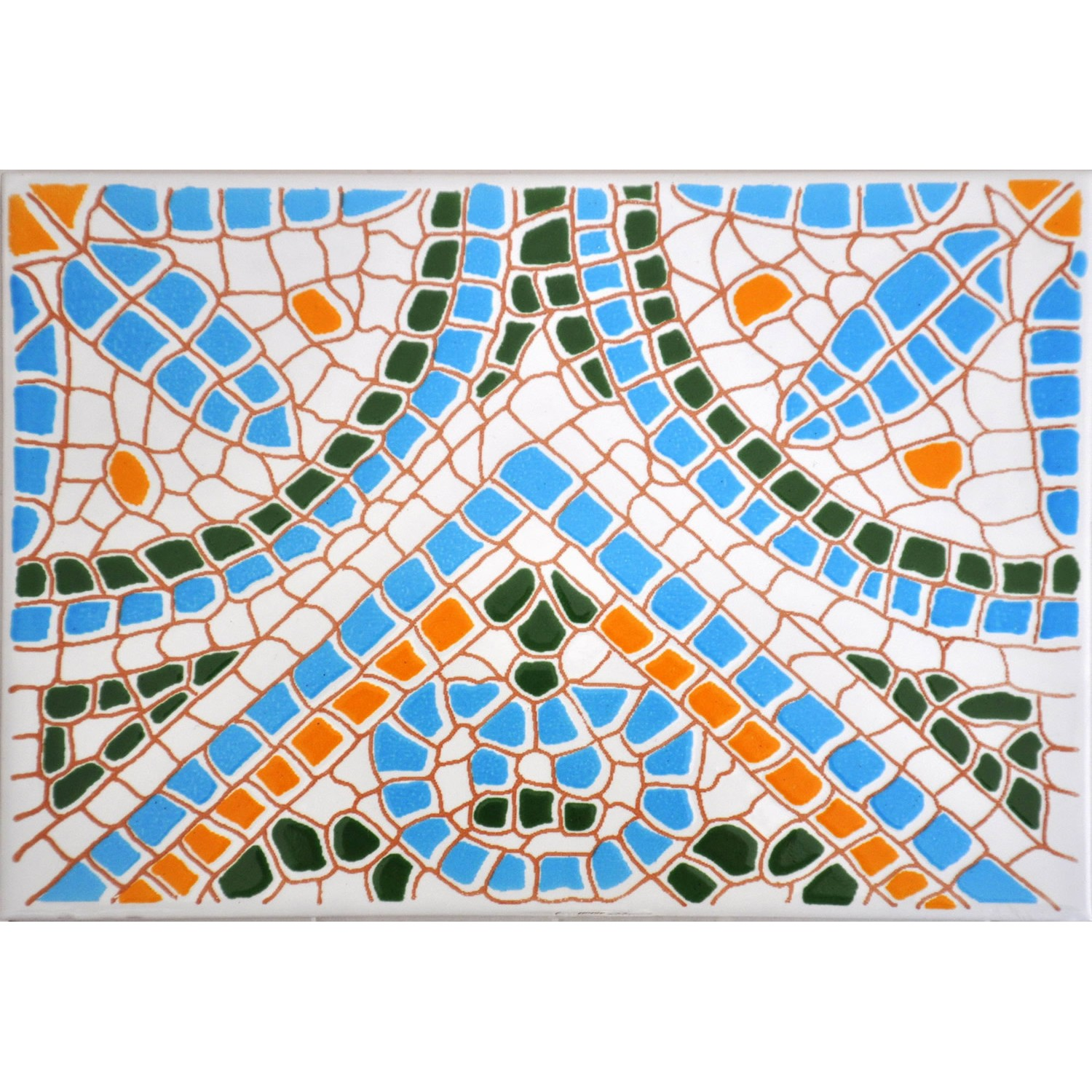 Mosaico Orange Turchese 15x20