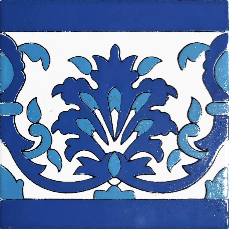 Cornice Greca Kalleline  Blu Cielo 15 x 15 cm