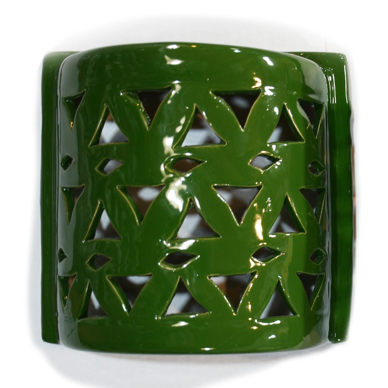 Plafoniera Mezzo Cilindro Traforato verde