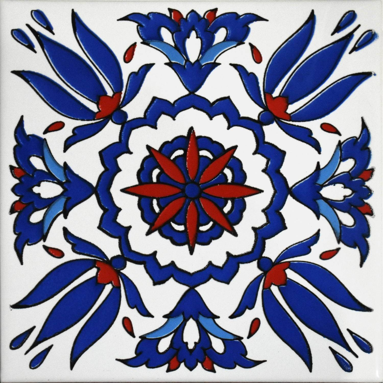 Zlabya Rosso e Blu 20x20 cm