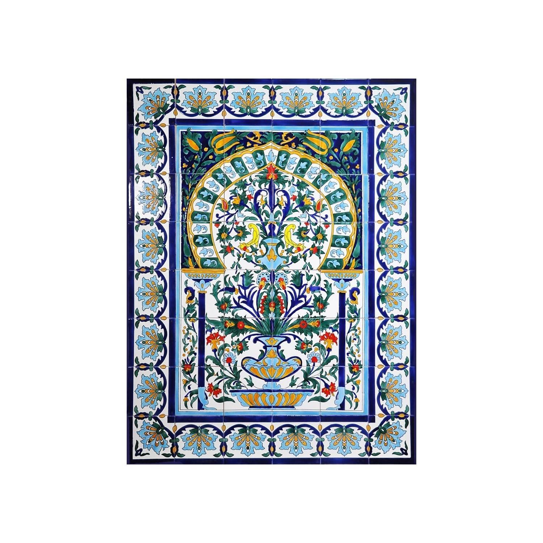 Pannello da Muro VASO MAROCCO 48 Mattonelle