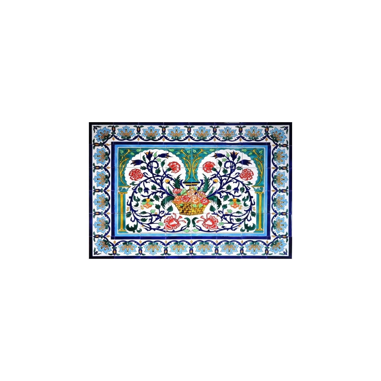 Pannello da Muro CESTO DI FIORI 48 Mattonelle
